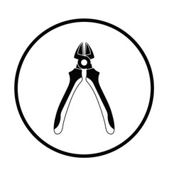 Side cutters icon vector