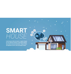 smart house technology of home automation concept vector image