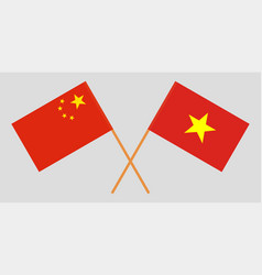 Socialist republic of vietnam and china flags vector