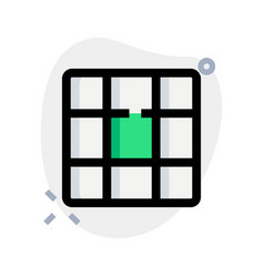 Square boxes cell mesh design template layout vector