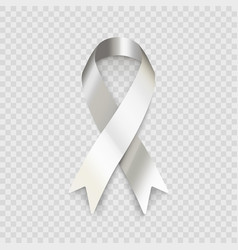 stock white ribbon isolated on vector image