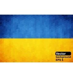 Ukrainian flag of geometric shapes vector image