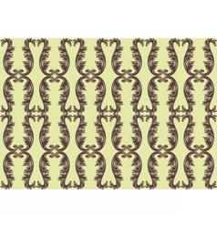 Vintage floral ornament pattern vector image