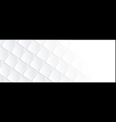 White geometric square background in paper art vector