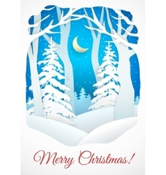 Winter Christmas card vector image