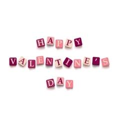 Words happy valentine day vector image