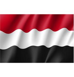 yemen national flag vector image