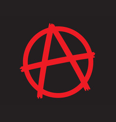 anarchy symbol icon vector image