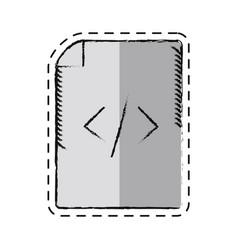 cartoon page html coding web vector image
