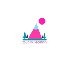 Graphic sign of the mountain vector image vector image