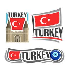 logo for turkey vector image vector image