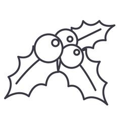 mistletoeornamentchristmas line icon vector image