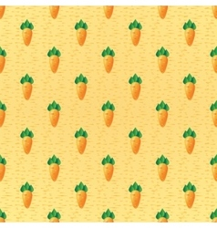 Seamless background root crop carrots vector image vector image