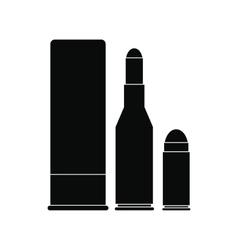 Shotgun shell and bullets icon vector image