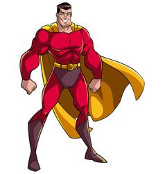 superhero standing tall vector image vector image