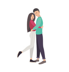 young man and woman dressed in modern casual vector image