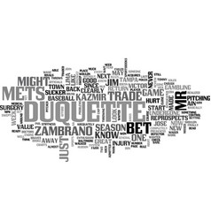 ain t no sucker like jim duquette text word cloud vector image vector image