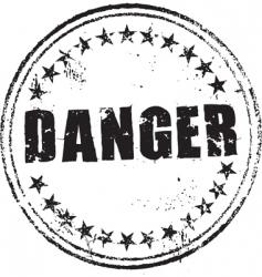 danger stamp vector image vector image