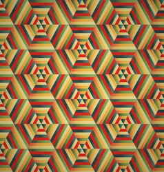 Hexagon seamless pattern colorful background vector image