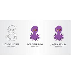 logo volet octopus vector image vector image