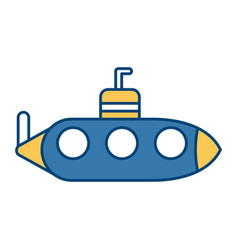 submarine war ship vector image