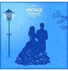 Vintage lovers vector image