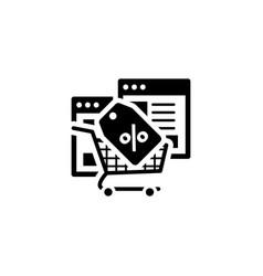 discount icon flat design vector image