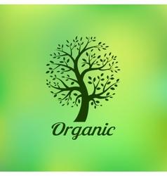 Organic green tree logo eco emblem vector image vector image