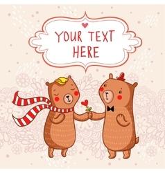 Romantic cartoon background vector image vector image