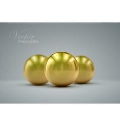3D golden spheres vector image