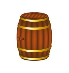 Barrel in wooden design vector