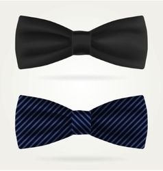 Dark tie on a white background vector image