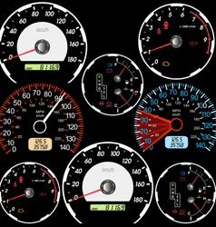 Set of car speedometers vector image vector image