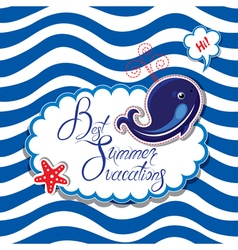summer card striped 2 380 vector image vector image