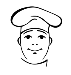 Young chinese cook contour portrait vector image vector image