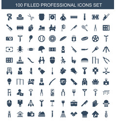 100 professional icons vector