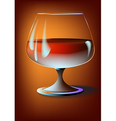 A glass of wine vector