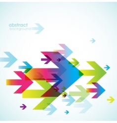 Abstract background with arrows vector