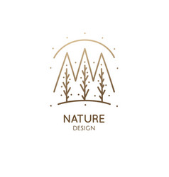 Abstract minimal logo landscape vector