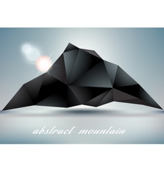 Abstract mountain backgrond with suneps 10 vector