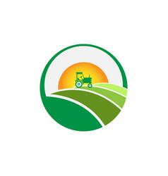 agriculture farming logo vector image
