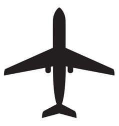 airplane flat icons vector image
