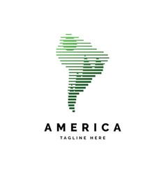 america forest logo design vector image