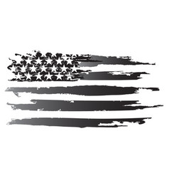 American grayscale flag vector