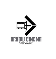arrow and film stripes for movie cinema vector image