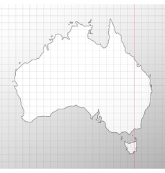 Australia map in a cage on white background vector image