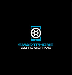 Automotive app smartphone modern technology vector