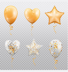 balloons heart ball or star shape isolated vector image