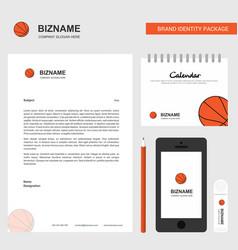 basketball business letterhead calendar 2019 and vector image