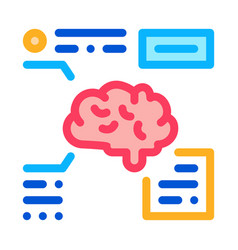 brain feature icon outline vector image